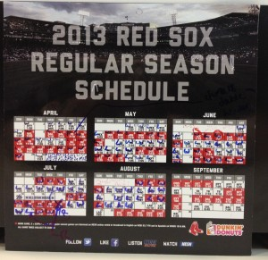 I keep track of the W's and L's on this magnetic schedule in my office. More W's please!
