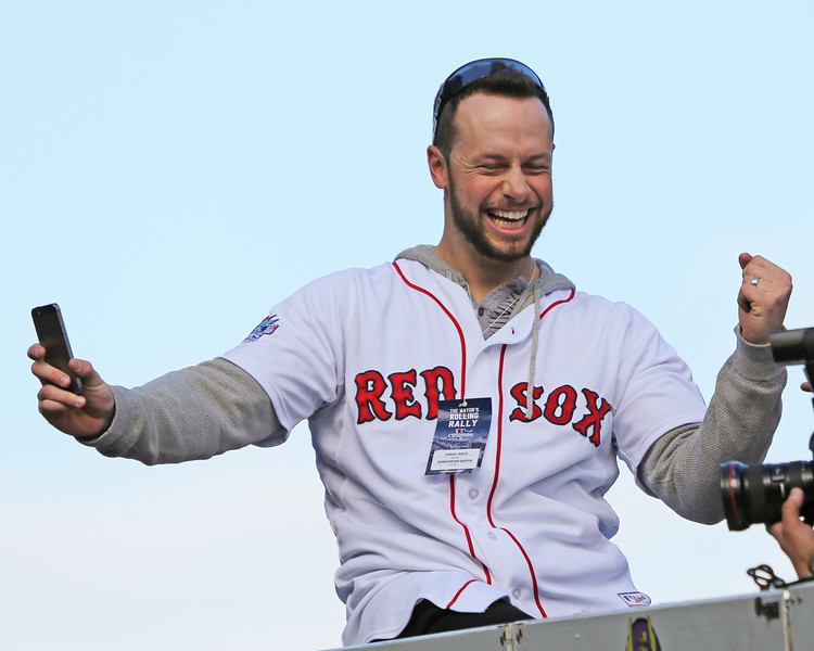 Who is happier than Daniel Nava? Probably no one. (Photo by Kelly O'Connor/sittingstill  and used with permission)