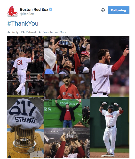The official Red Sox Twitter account tweeted this out this afternoon. It got a little dusty.